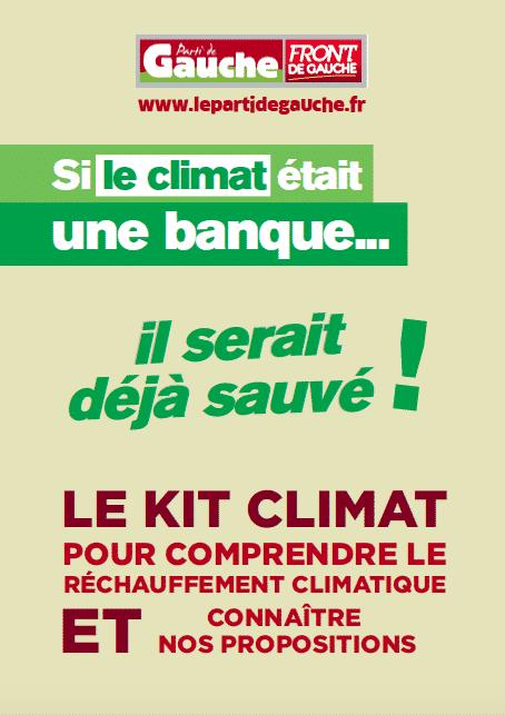 kit climat parti de gauche melenchon rechauffement climatique
