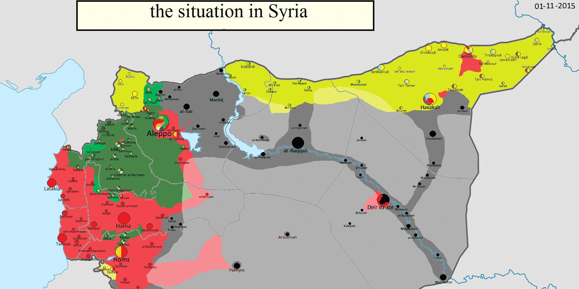 La guerre du Levant montre ses contenus et ses contours