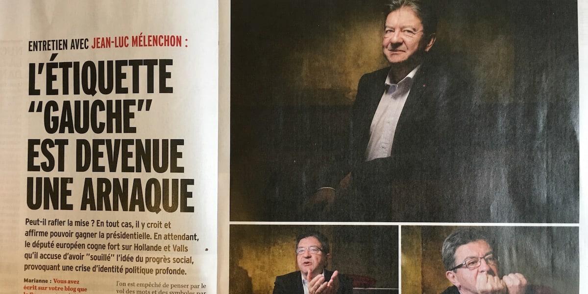 """«L'étiquette """"gauche"""" est devenue une arnaque» - entretien paru dans Marianne le 20 mai 2016"""