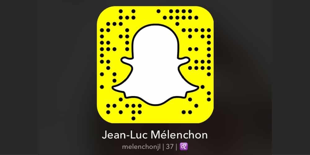 melenchon snapchat snapcode