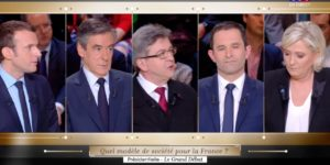 Capture d'écran du débat TF1