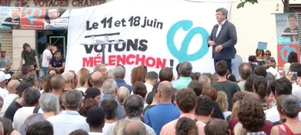 Réunion de Jean-Luc Mélenchon à Marseille