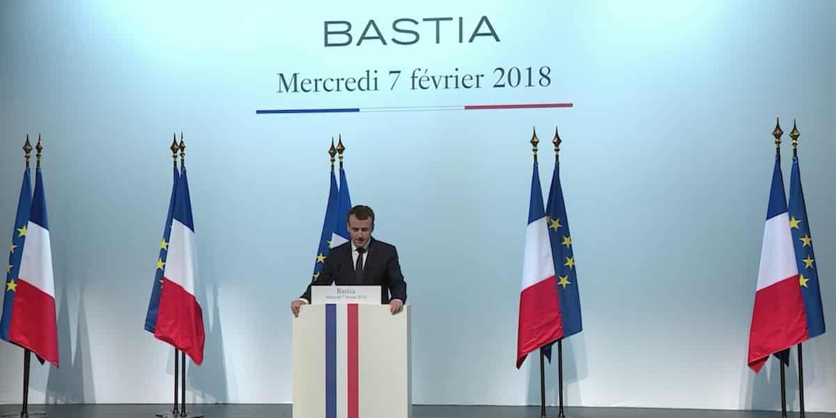 La Corse, Macron, la République
