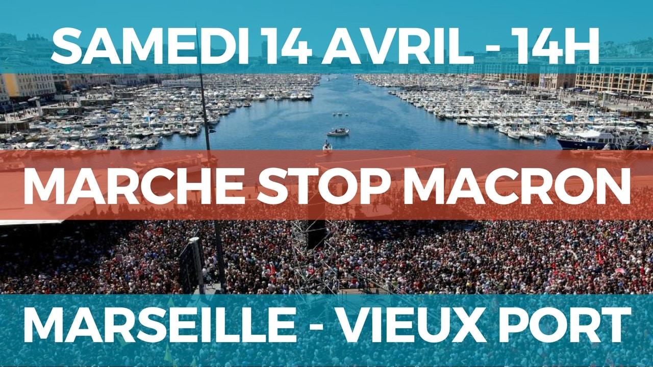 Lettre aux responsables des formations politiques de l'opposition à Macron pour la marche de Marseille