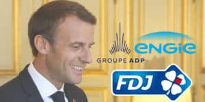 macron privatisations adp fdj engie