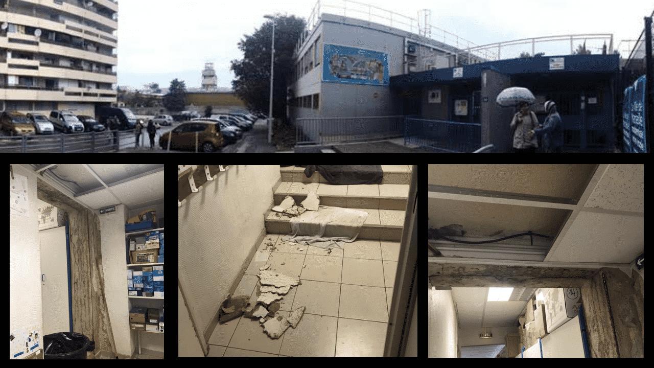 Le plafond d'une école s'écroule à Marseille : un abandon révoltant !