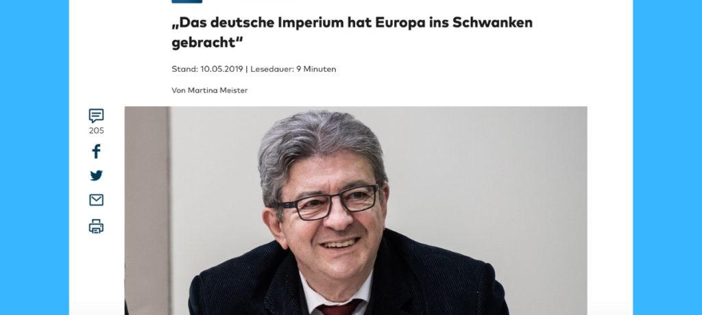 «L'imperium allemand a déséquilibré l'Europe» (Die Welt)