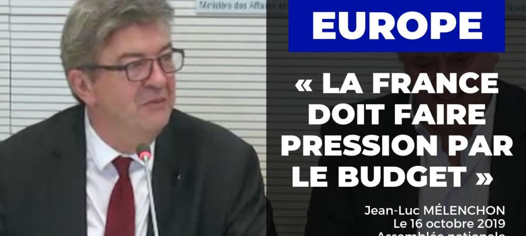VIDÉO - Europe : la France doit faire pression par le budget
