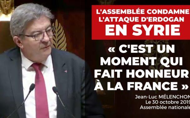 VIDÉO - «C'est un moment qui fait honneur à la France» - L'Assemblée nationale condamne l'attaque d'Erdogan en Syrie