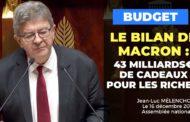 VIDÉO - Macron, président des riches : 43 milliards €  de cadeaux aux plus fortunés
