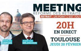 EN DIRECT - Meeting Retraites avec Jean-Luc Mélenchon et Manuel Bompard - #MeetingToulouse