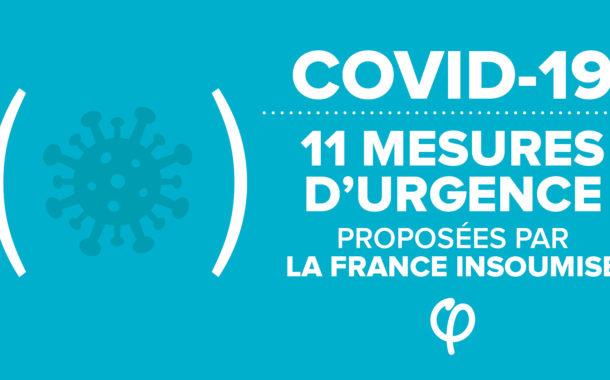 Coronavirus : les 11 mesures d'urgence proposées par la France insoumise