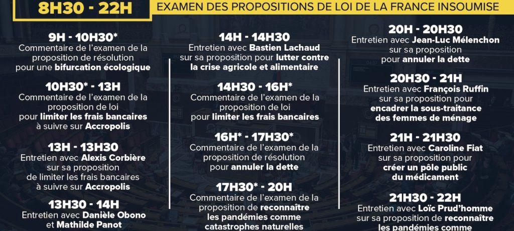 EN DIRECT - Suivez l'examen des propositions de loi de la France insoumise