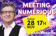 Meeting numérique de Jean-Luc Mélenchon #JLMNumerique