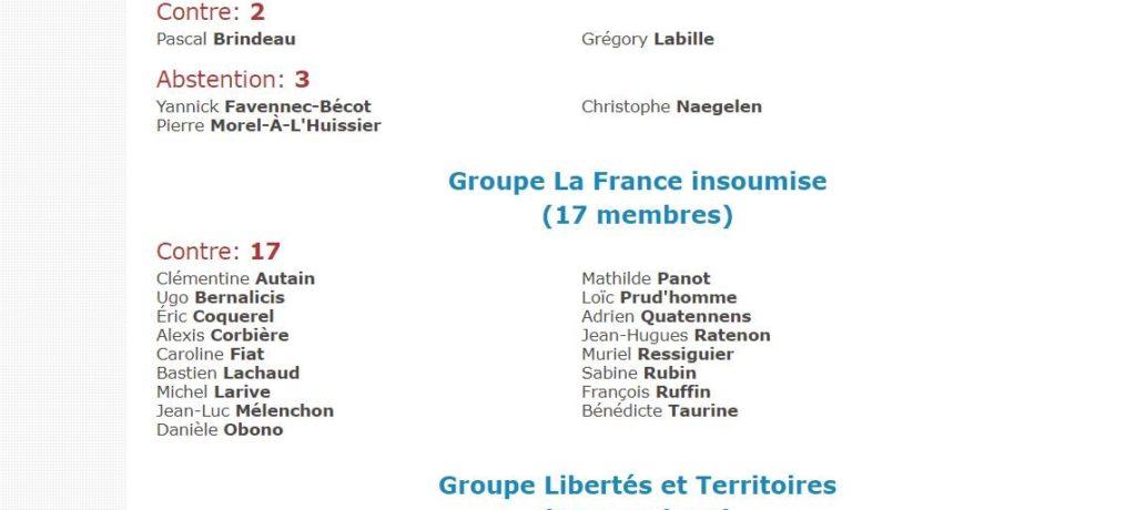 Laïcité : seul le groupe LFI est sans ambiguïté