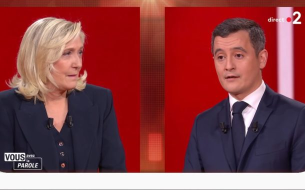 le pen darmanin france 2