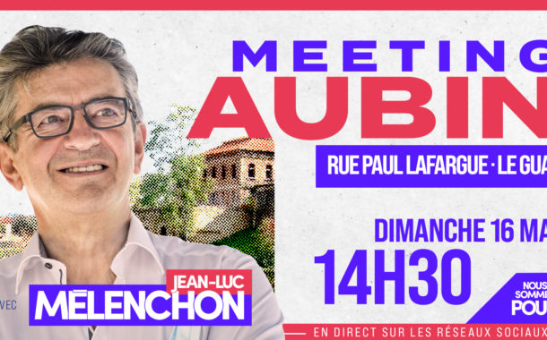 Premier Meeting en plein air de Jean-Luc Mélenchon - #MeetingAubin