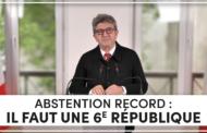 Abstention record : il faut une 6e République