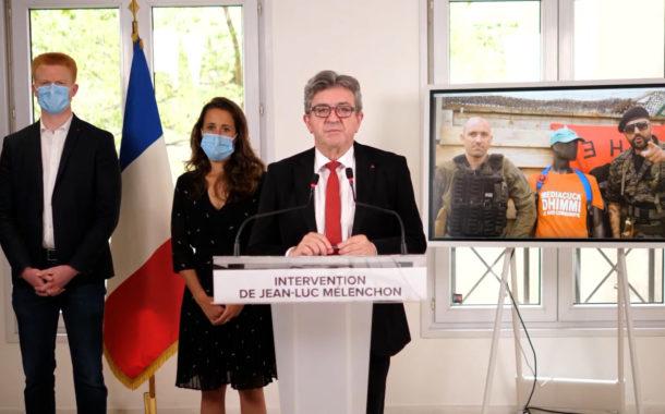 Intervention de Jean-Luc Mélenchon après les menaces du YouTubeur d'extrême droite Papacito